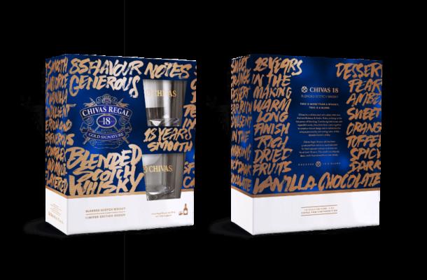 Chivas Regal 18YO paket + čaše