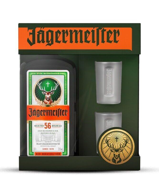 Jagermeister poklon pakiranje - set boca 0,7L + dvije čaše