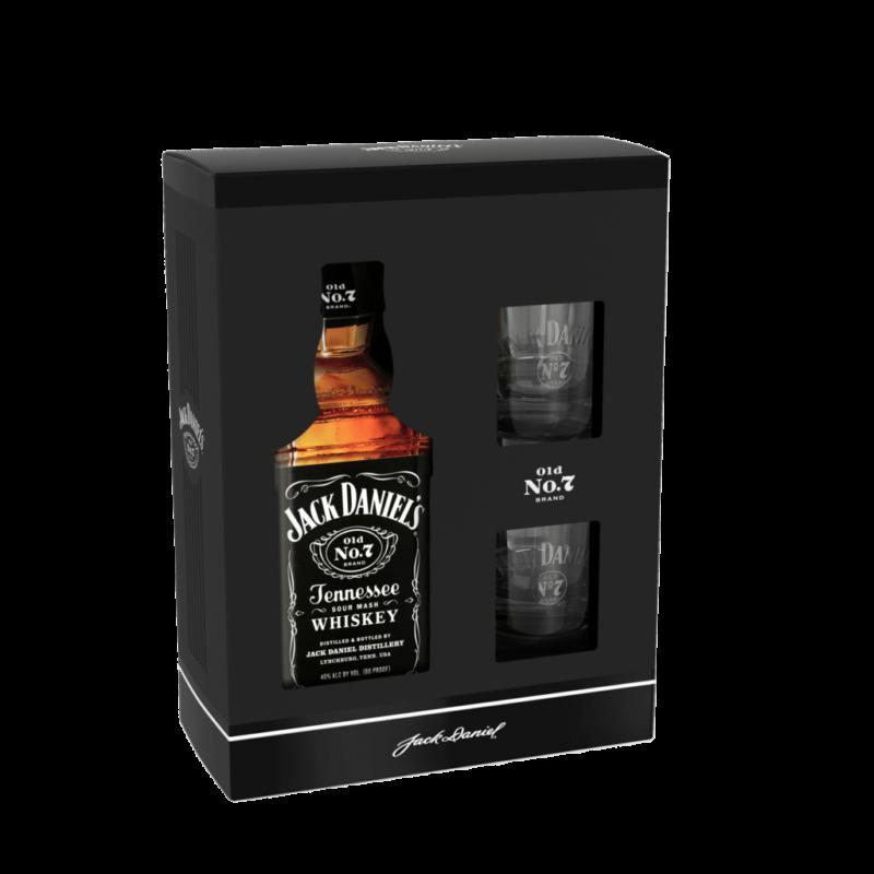 Jack Daniel's no.7 u poklon pakiranju s dvije čaše
