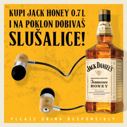 Jack Daniel's Honey i poklon slušalice