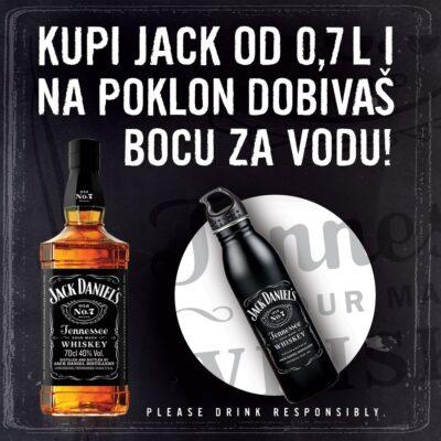 Jack Daniels 0,7 i poklon boca za vodu