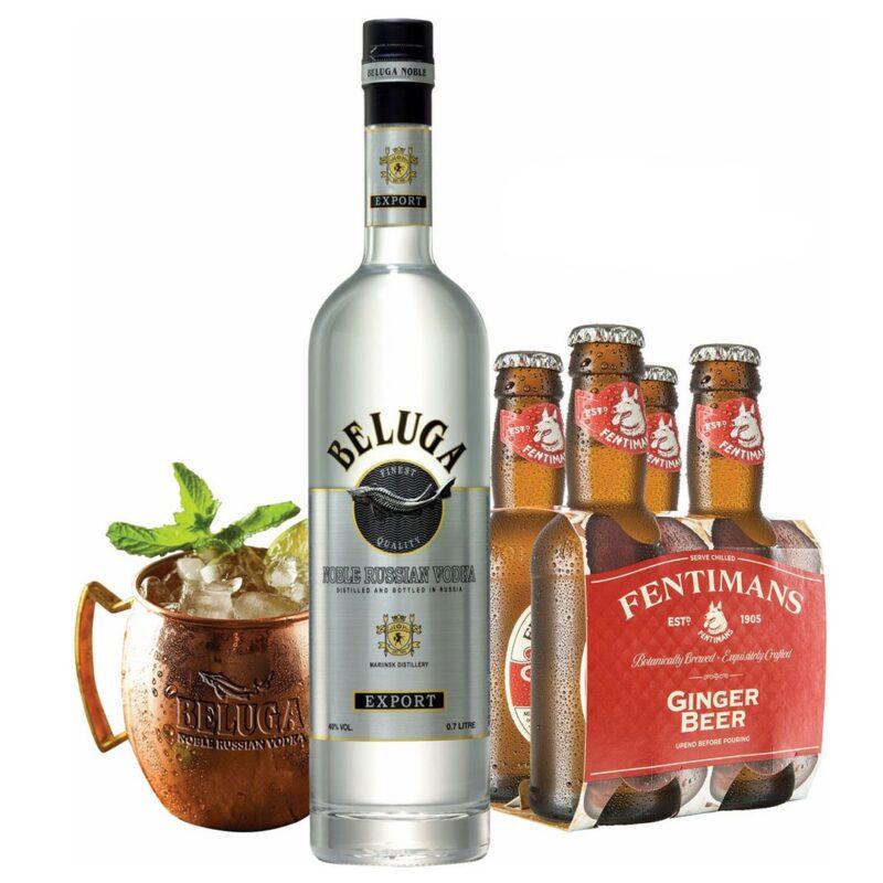 Vodka Beluga Noble + 4 boce Fentimans Ginger Beer gratis