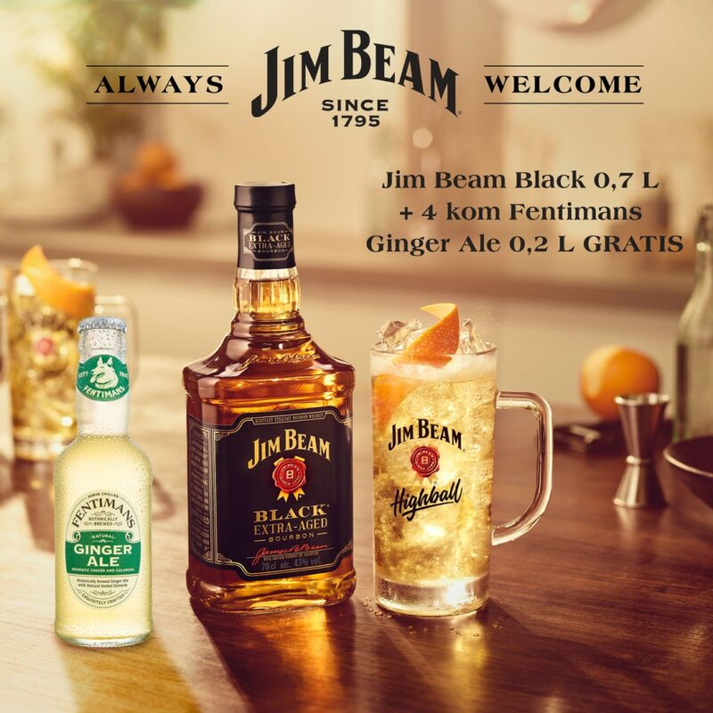 Jim Beam Black i Fentimans Ginger Ale akcijski plakat