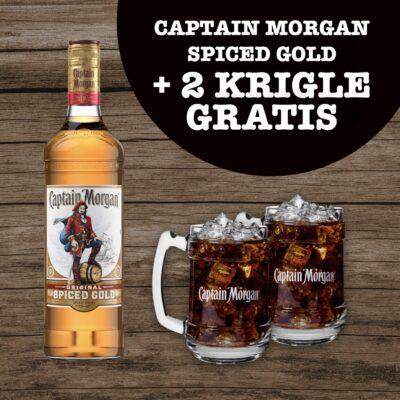 Captain Morgan Spiced Gold i dvije krigle gratis