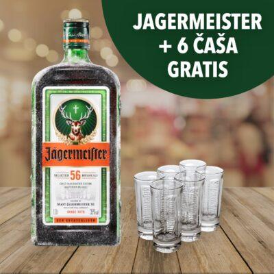 Jagermeister akcija - boca od 1L i 6 čaša gratis